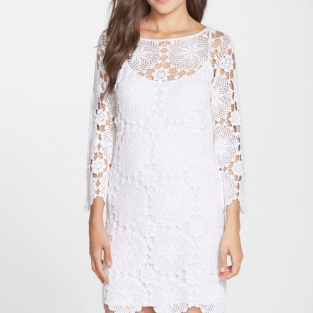 Classic Summer time White-colored Dress